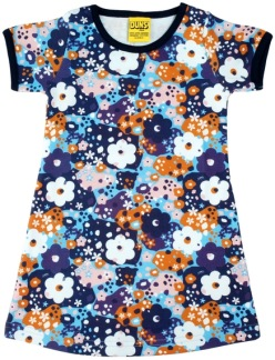Kortärmad klänning, Duns - 80