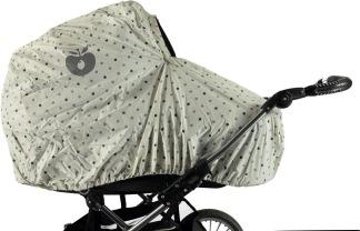 Regnskydd för barnvagn - creme