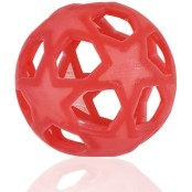 Leksak Stjärnboll i naturgummi, röd