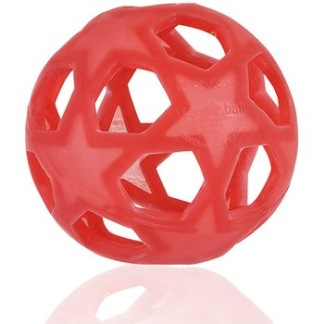 Leksak Stjärnboll i naturgummi, röd -