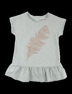 Ella s/s dress, aqua grey - 68