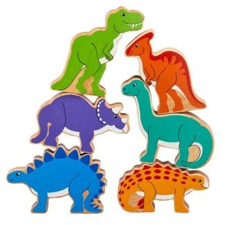 Påse med 6 st dinosaurier, fairtrade & eko -