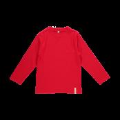 Långärmad tröja röd, ekologisk
