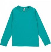 Långärmad tröja turkos, ekologisk