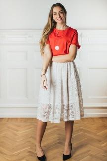 Valldemosa skirt, White - S