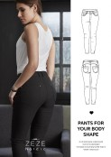 Shape pants, slim fit, svarta