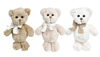 Baby Gabriel, Marian & Lillebror, 15 cm - Brun m vit rosett