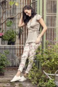 Miranda pants rose/salvia/creme