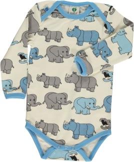 Body, elefanter, blå - 56