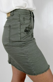 Butterfly skirt khaki green - 36