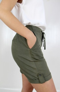 Lina shorts khaki green - 36