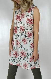 Darlene tunic rose/creme - S