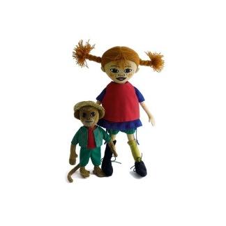 Pippi och Herr Nilsson dockor -