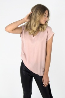 Bess top smoky rose - M