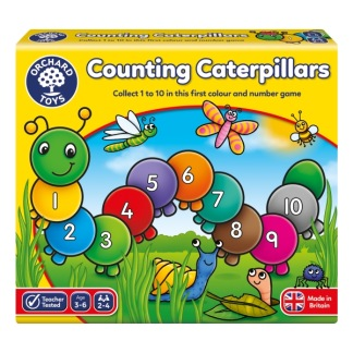 Counting caterpillars, siffror 1-10 -