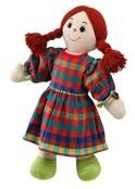 Mjuk ljus mammadocka, rött hår, fairtrade