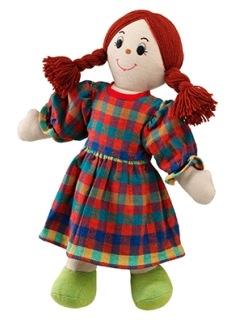 Mjuk ljus mammadocka, rött hår, fairtrade -