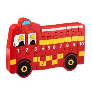 Pussel 1-10 brandbil eko & fairtrade -
