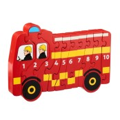 Pussel 1-10 brandbil eko & fairtrade
