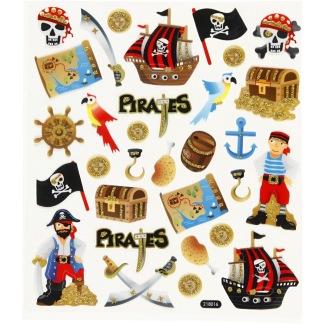 Klistermärken, pirat -
