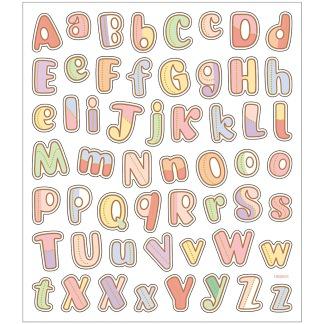 Klistermärken, bokstäver A-Z -