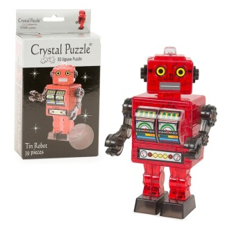 Crystal puzzle 3d, robot -
