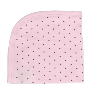 Snuttefilt rosa dotty -