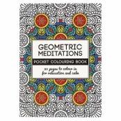 Målarbok Geometric Meditations 10,5 x 14,5 cm, 20 sidor