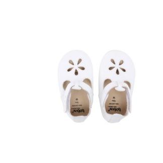 Bobux skinntofflor vit blomma - stl XL (21-27 mån)
