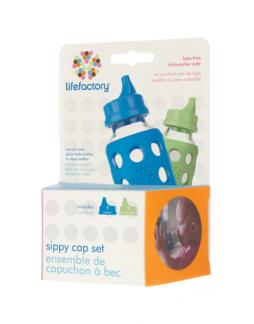 Piplock till lifefactory nappflaska, 2 pack -