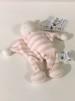 Mjuk docka, eko & fairtrade - rosa/vit randig