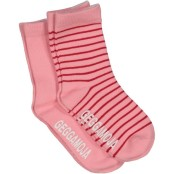 Geggamoja Strumpor Anti-Slip Classic rosa/röd