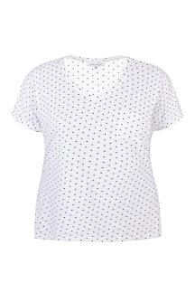 T-shirt vit m svarta prickar - XL (54/56)