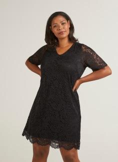 Spetsklänning, svart - M (46/48)