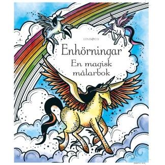 En magisk målarbok, enhörningar -