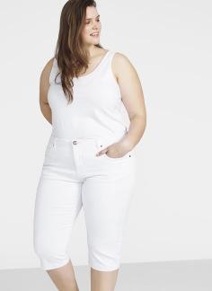 Emily caprijeans, vit - 42