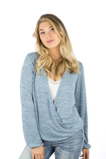 April sweater dream blue melange - S