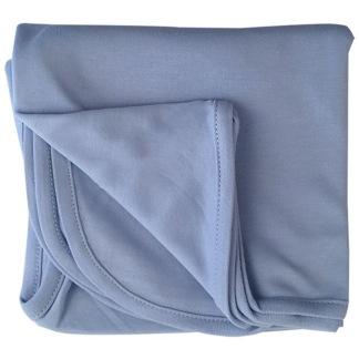Infinity Solid Blanket - Oekotex,  celestial blue -