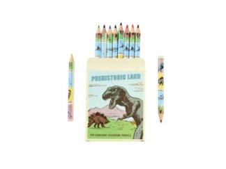 Färgpennor 10-p Dinosaur -