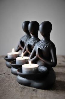 Yoga candleholder -