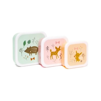 Snacksboxar x3 st skogsdjur -