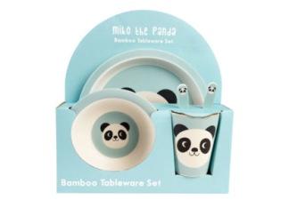 Barnservis Bambu 5-Del Miko the Panda -