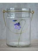 Blåklocka glas hänglykta