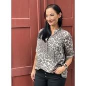 Vera leo blouse – taupe