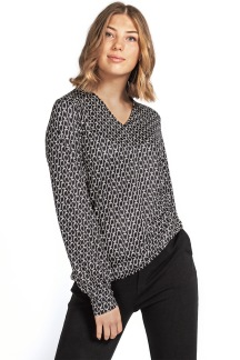 Dory Blouse black/creme - S