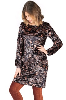 Gillian Dress black/tangerine - S