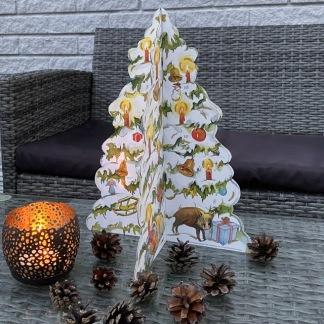 3 D adventskalender vintergran -