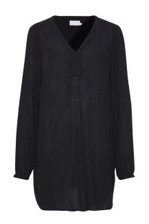 Amber v- neck tunic, black - 38