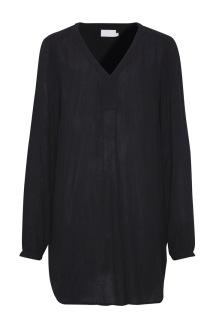 Amber v- neck tunic, black - 38