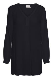Amber v- neck tunic, midnight marine - 38